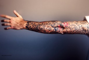 Awesome full arm tattoo