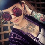 Awesome girl chest tattoo