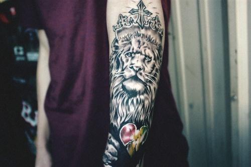 King Lion Arm Tattoo Best Tattoo Design Ideas