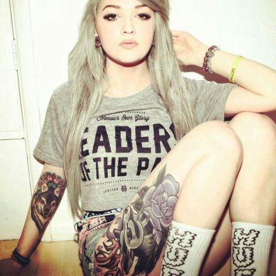 leg and arm tattoo