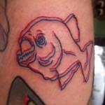 3D fish tattoo
