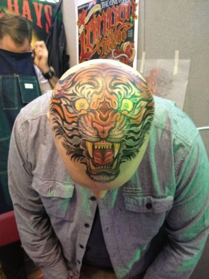 Awesome head tiger tattoo