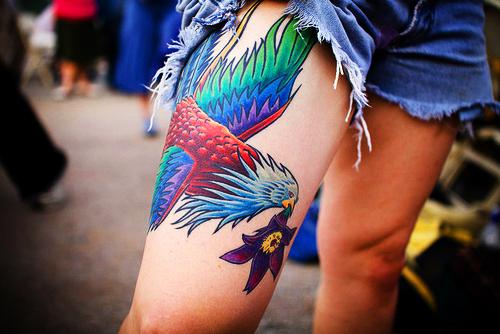 Beautiful leg tattoo