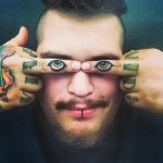 Funny fingers tattoos
