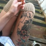 Tattoo coffee and cigarettes