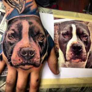 amazing dog tattoo