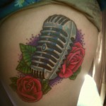 amazing mic tattoo