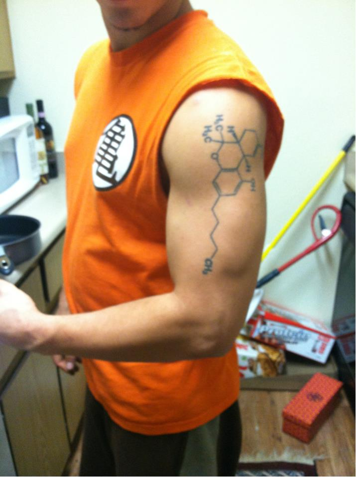 cool chemistry tattoo