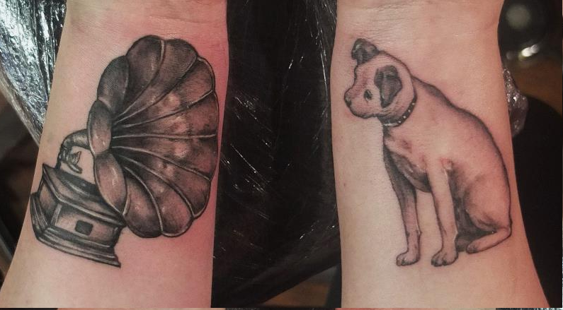 cute doggy tattoo