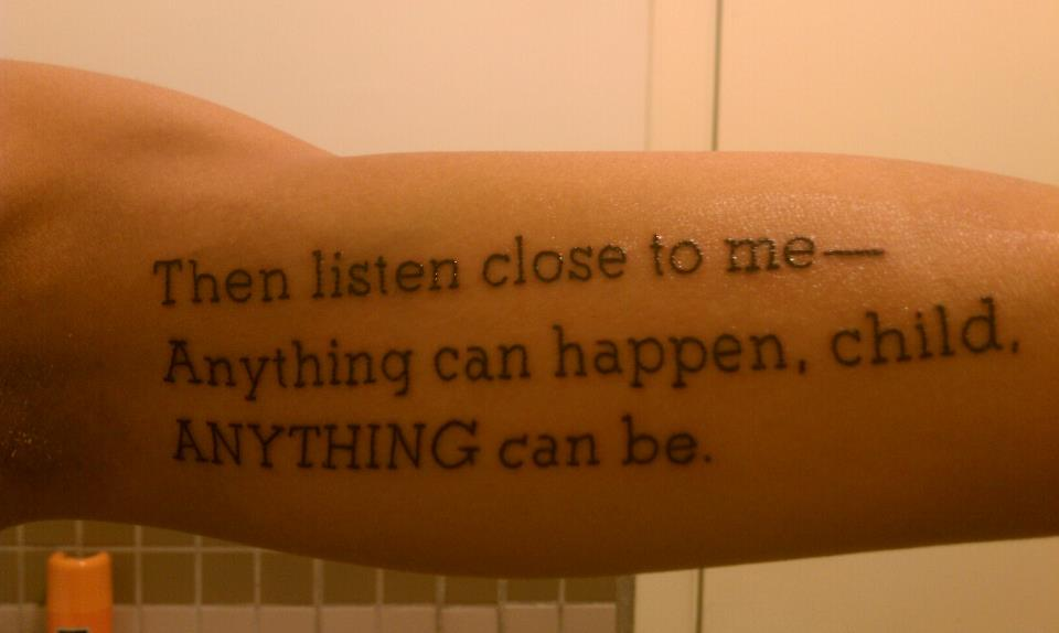 meaningful words tattoo