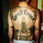 Amazing tattoo on guy's back