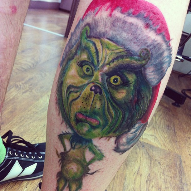 Grinch tattoo