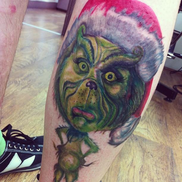 Grinch tattoo