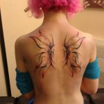 Simple wings tattoo