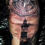 amazing lighthouse tattoo