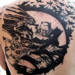 Amazing Batman back tattoo