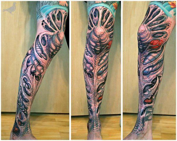 Amazing full leg tattoo