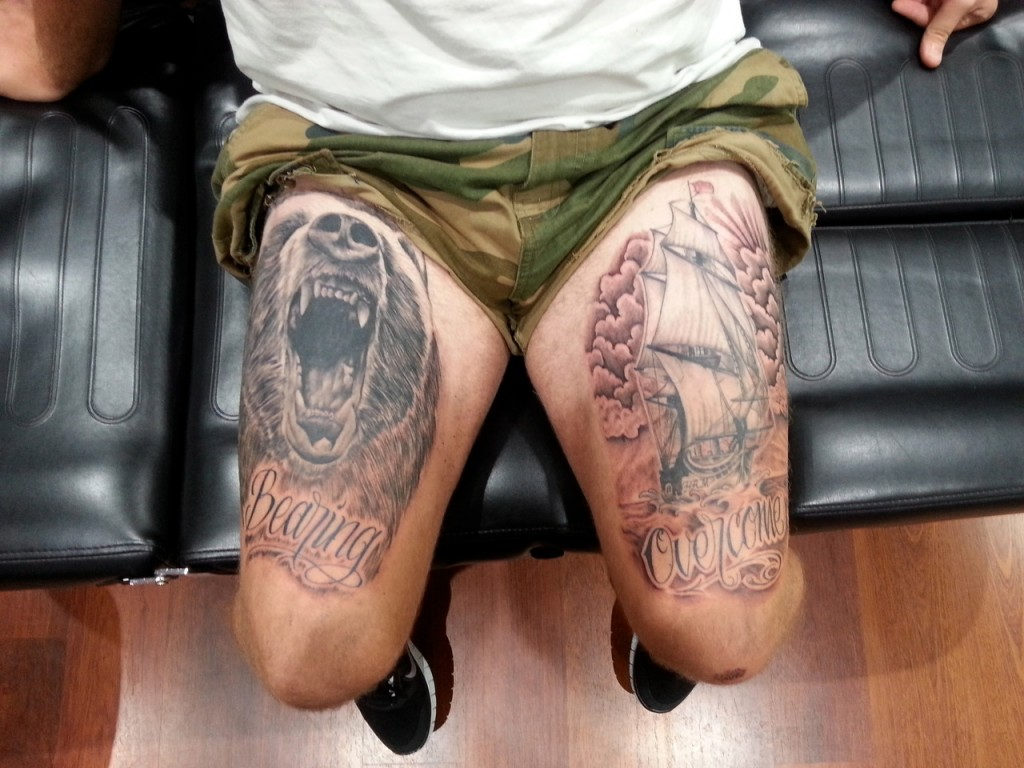 Amazing leg tattoos