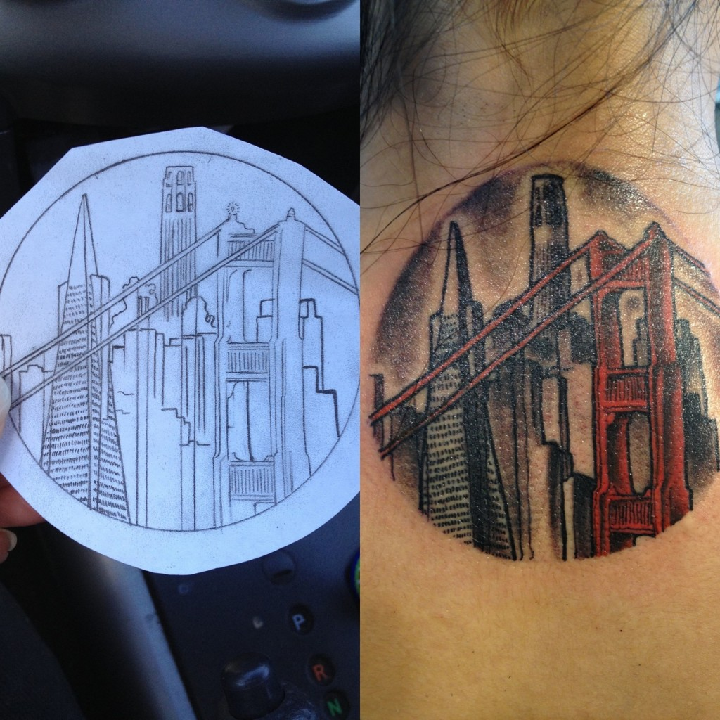 Awesome city tattoo