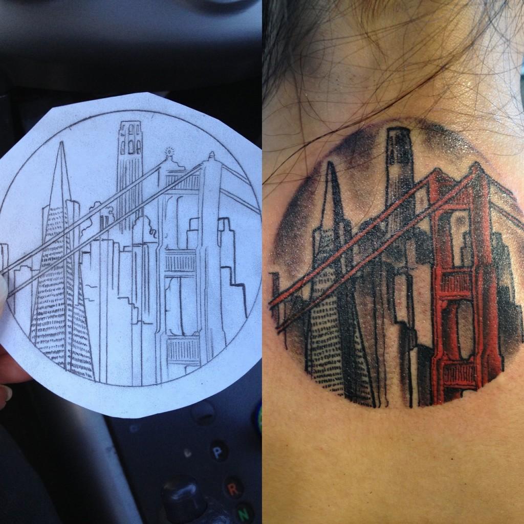 Awesome city tattoo