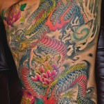 Awesome dragon back tattoo