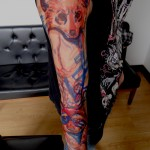 Awesome full arm and sleeve tattoo