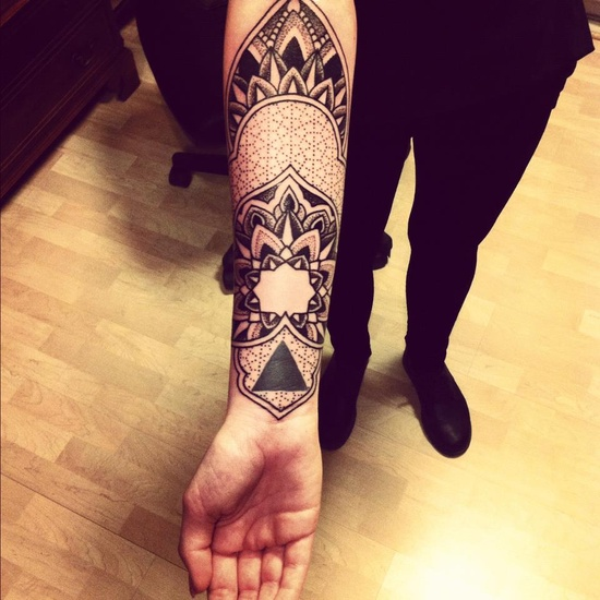 Black arm tattoo