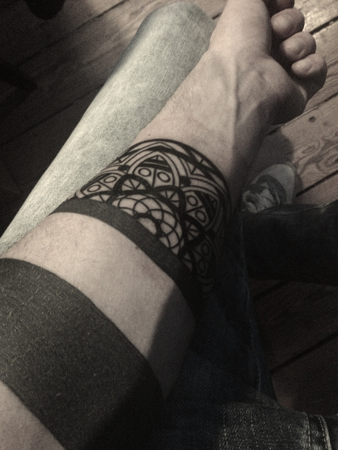 Black pattern tattoo