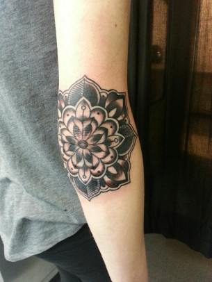 Cool elbow tattoo