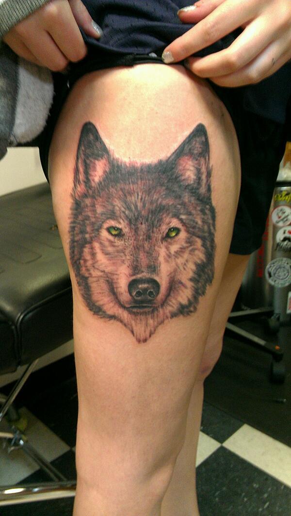 Cool wolf tattoo