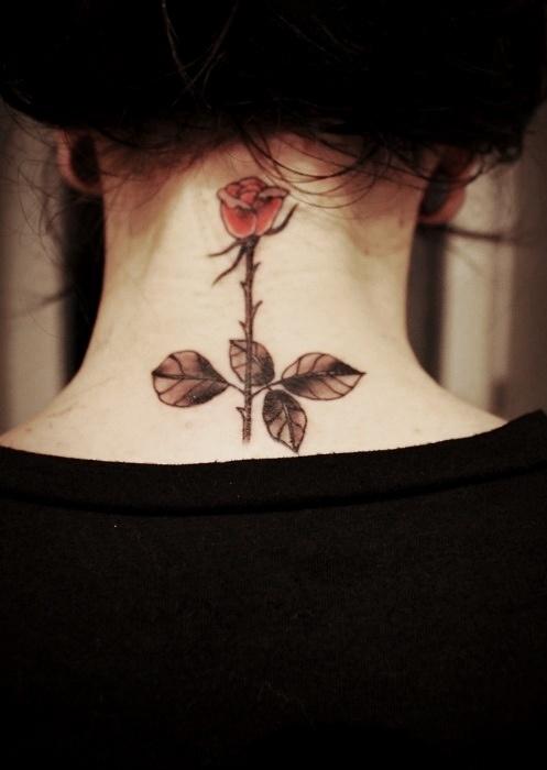 Cute Rose neck tattoo   Best tattoo design ideas