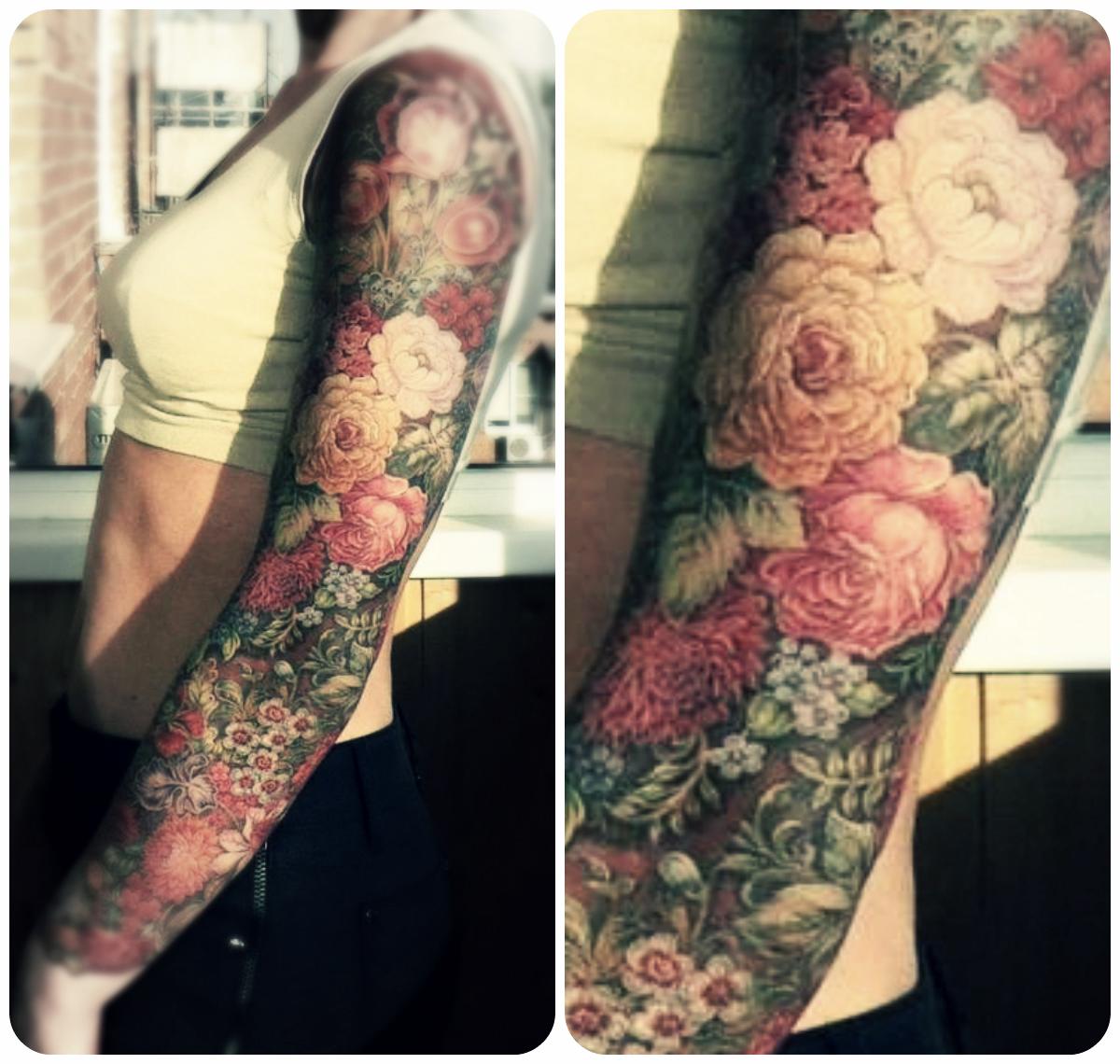 Fancy floral tattoo