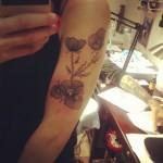 Flowers on arm