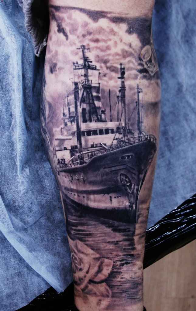 Incredible ship tattoo