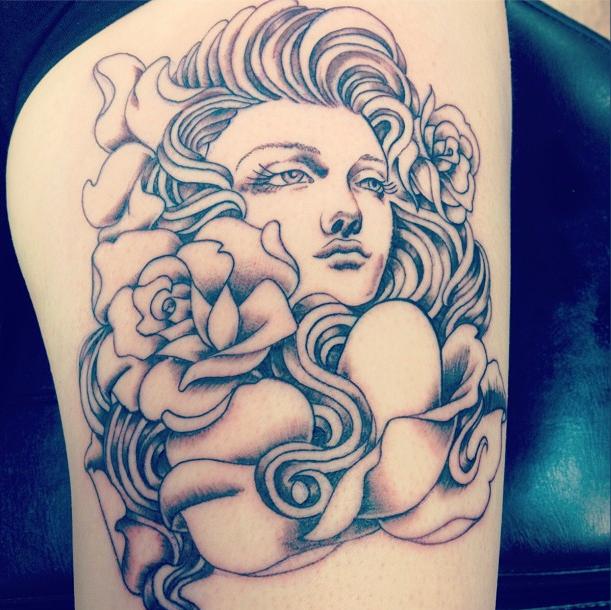 Lady tattoo   Best tattoo design ideas