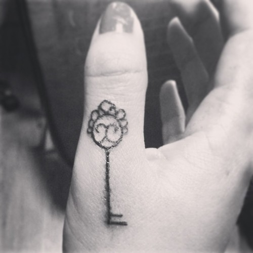 Little tattoo on finger