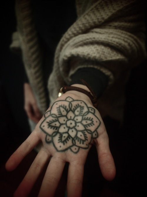 Lovely hand tattoo