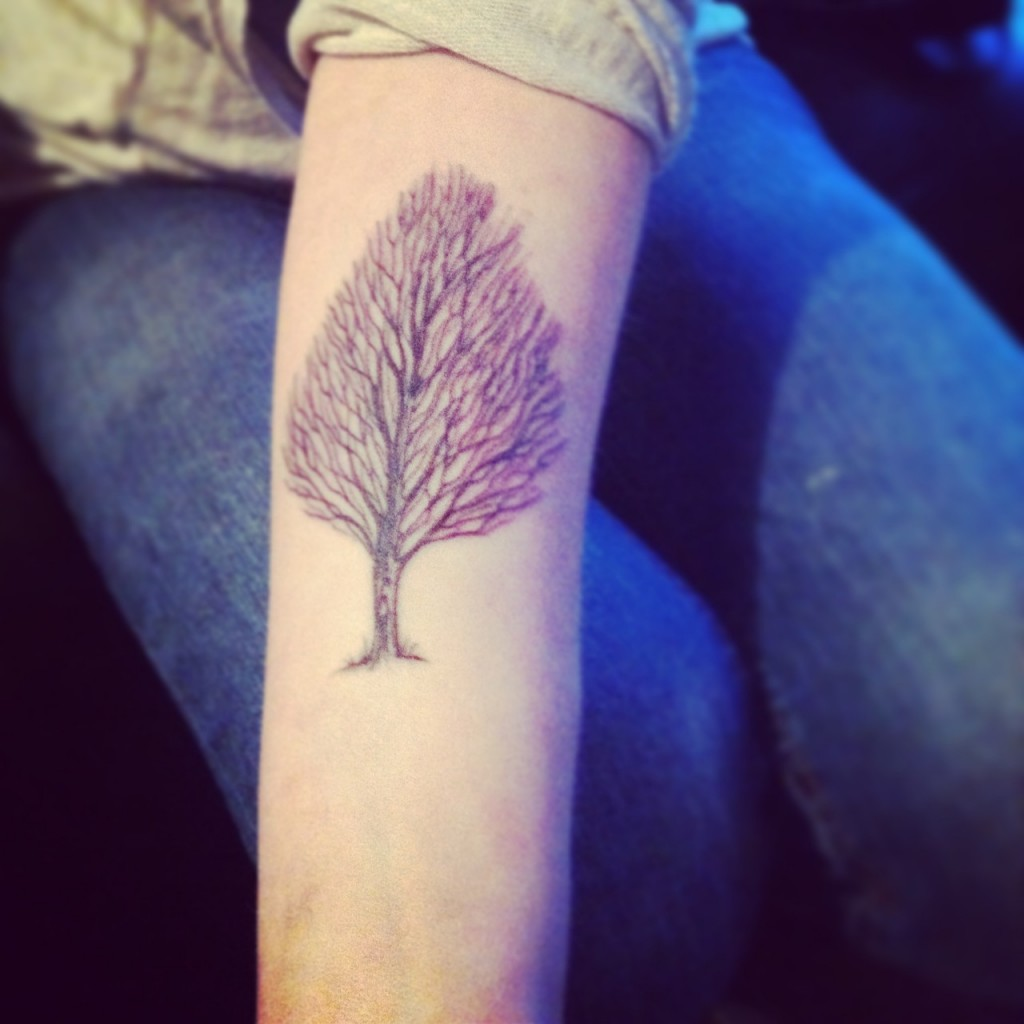 Minimal tree tattoo