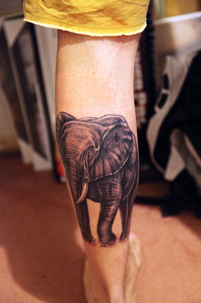 Nice elephant tattoo