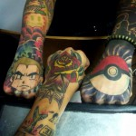 Pokemon arm tattoos