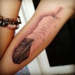 Realistic feather