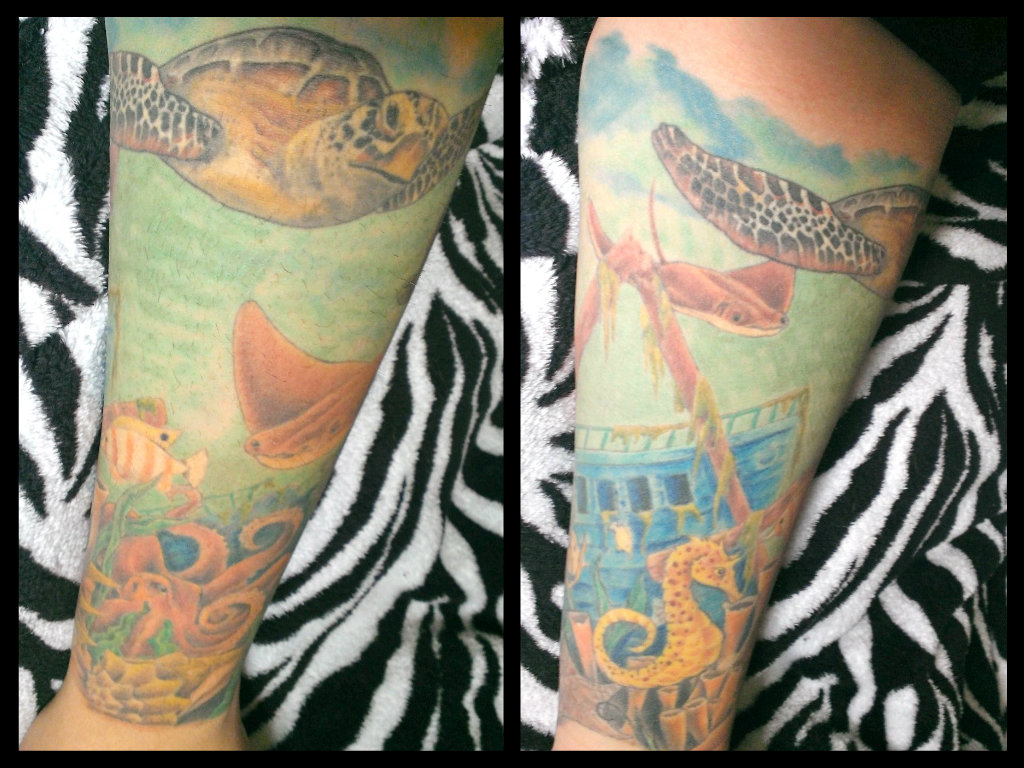 Sealife tattoo | Best tattoo design ideas
