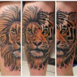 Tiger Lion tattoo