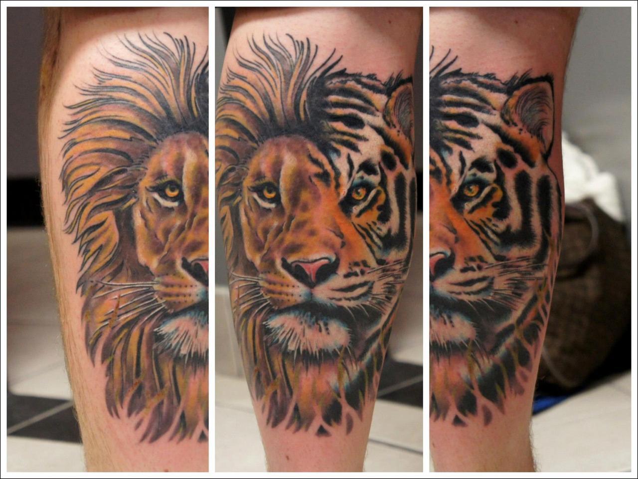 Tiger Lion tattoo