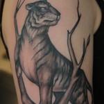Tiger sleeve tattoo