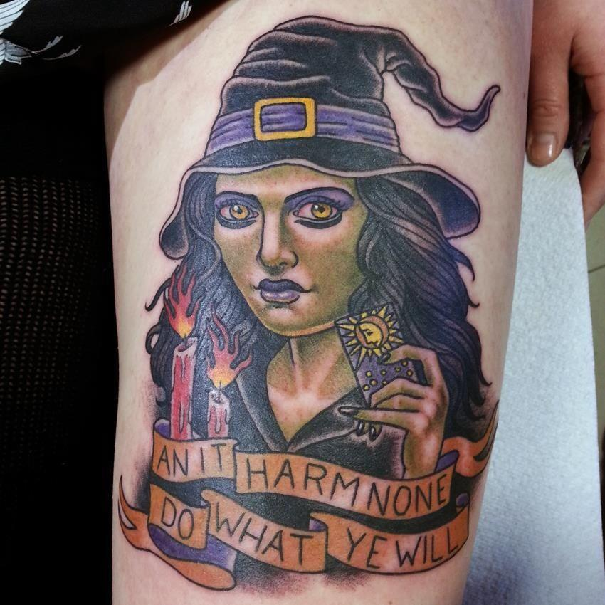 witch tattoo