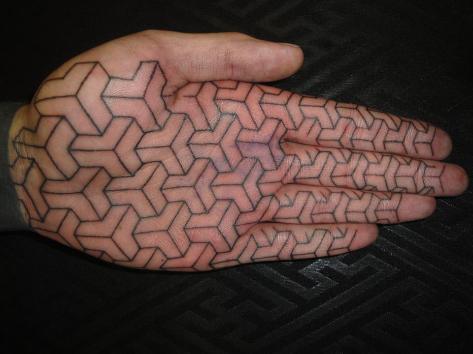 3D pattern tattoo
