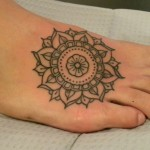 Beautiful Mandala Feet Tattoo
