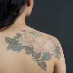 Beautiful floral back tat