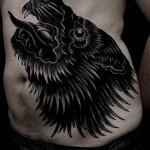 Black wolf tat